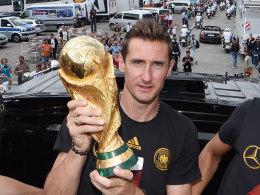 Miroslav Klose tritt als Weltmeister ab.