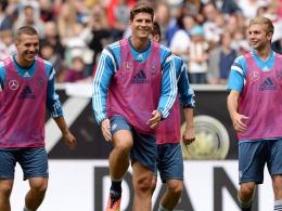 Lukas Podolski, Mario Gomez und Christoph Kramer