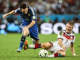 Bastian Schweinsteiger gegen Lionel Messi