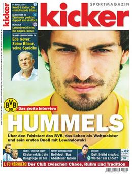Die aktuelle kicker-Ausgabe 82/2014.