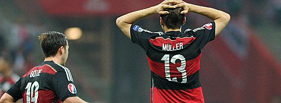 Mangelhafte Chancenverwertung: Thomas Müller kann es nicht fassen.