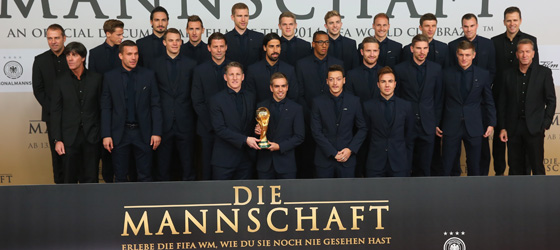 Das deutsche Weltmeisterteam vor der Premiere.