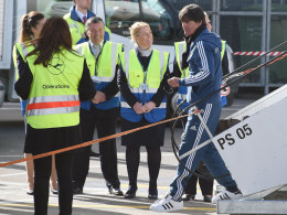 Joachim Löw bei der Ankunft in Dublin