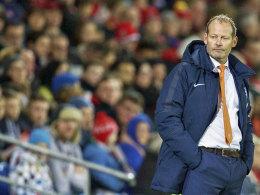 Will von Ergebnissen nichts wissen, braucht aber ein gutes Resultat: Oranje-Coach Danny Blind.
