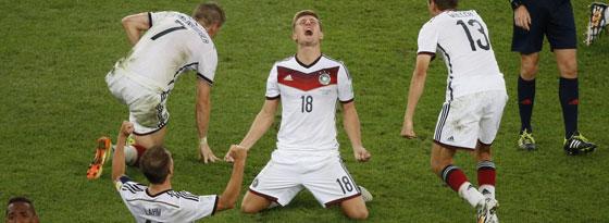 Toni Kroos nach dem Schlusspfiff im WM-Finale