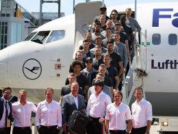 DFB-Team gelandet - G�tze l�sst M�ller tr�umen