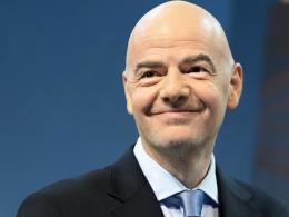 """War """"hochzufrieden"""" mit dem ersten Videoschiedsrichter-Härtetest: FIFA-Präsident Gianni Infantino."""