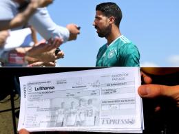 Schwedischer Reporter überreicht Khedira Rückflugtickets
