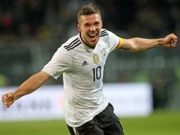 Podolski beendet Länderspiel-Karriere mit Traumtor