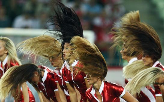 Polnische Cheerleader
