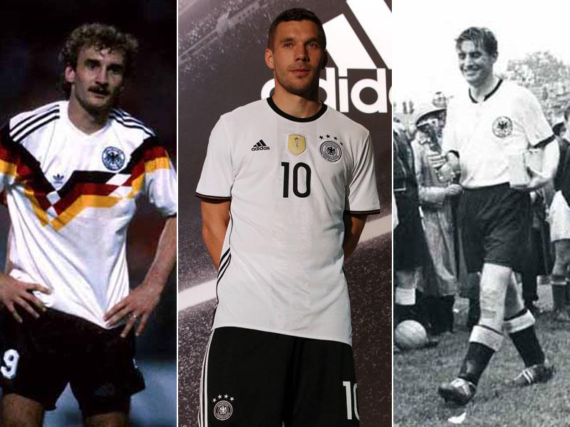 Rudi Völler, Lukas Podolski, Fritz Walter