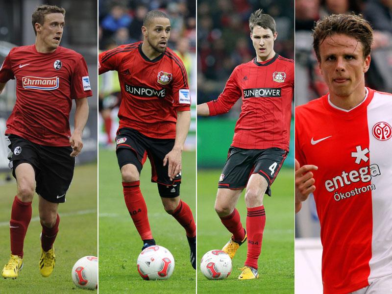 Max Kruse, Sidney Sam, Philipp Wollscheid und Nicolai Müller (von links)