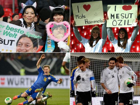 Bereits vor dem WM-Quali-Spiel zwischen Deutschland und Kasachstan war einiges los, aber auch die Partie bot beste Unterhaltung.
