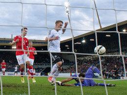 Polter trifft zum zwischenzeitlichen 3:0 für die deutsche U21.