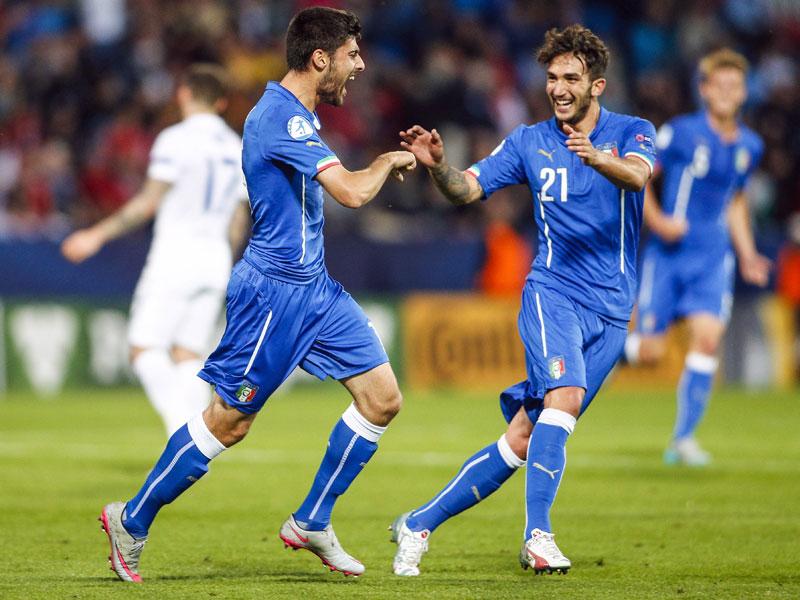Auch sein Doppelpack half der Squadra Azzurra am Ende nicht entscheidend weiter: Italiens Marco Benassi (li.).