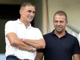Neu beim DFB: Sportdirektor Hansi Flick (re.) hat Stefan Kuntz ins Amt des U-21-Trainers berufen.