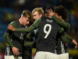 Die deutschen U-21-Junioren bejubeln den Erfolg in Russland.