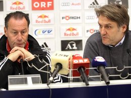 Huub Stevens und Dietmar Beiersdorfer (RB Salzburg)