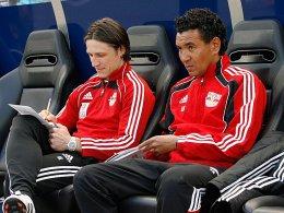 Ricardo Moniz und Co-Trainer Niko Kovac (RB Salzburg)