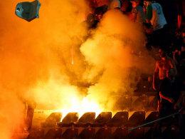 Feuerwerkskörper in Saloniki