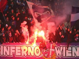 Pyrotechnik und Gewaltexzesse im Wiener Stadtduell