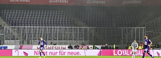 Rapid-Block im Austria-Stadion