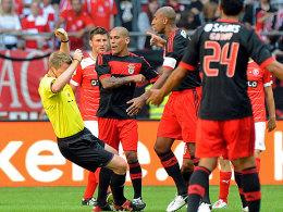 Referee Fischer und Luisao