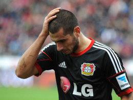 Bittere Nachricht: Eren Derdiyok, hier noch im Dress von Bayer Leverkusen, zog sich einen Kreuzbandriss zu.