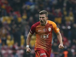 Souveräner Galatasaray-Sieg mit Podolski-Tor