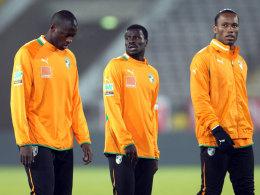 Yaya Touré, Eboué und Drogba