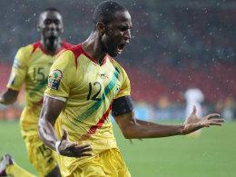 Malis Seydou Keita jubelt über seinen Treffer gegen Ghana zum 2:0.