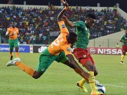 Kein Stolperstein: Die Elfenbeinküste besiegte Kamerun und zieht weiter.
