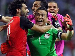 Ägypten im Glück: Nach Elfmeterschießen im Finale
