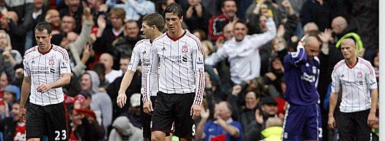 Carragher, Gerrard, Torres, Reina und Konchesky (v.l.n.r.)