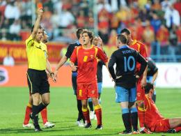 Rooney sieht die Rote Karte