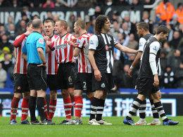 Szene vom 1:1 zwischen Newcastle und Sunderland