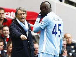 """""""Ich hoffe, er wird bestraft"""": Manchester Citys Teammanager Roberto Mancini ist von Mario Balotelli bitter enttäuscht."""