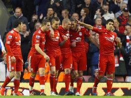 Liverpool beim kollektiven Torjubel
