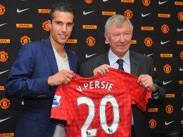 Robin van Persie und Sir Alex Ferguson