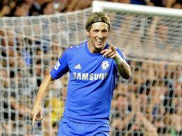 Fernando Torres (FC Chelsea) bejubelt sein Tor zum 3:2