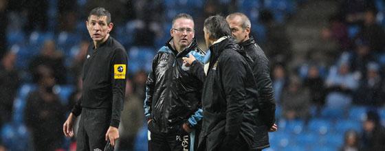 Roberto Mancini im Disput mit Paul Lambert