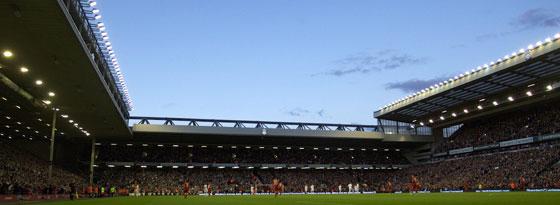 Das Stadion an der Anfield Road