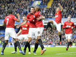 Manchester United jubelt an der Stamford Bridge