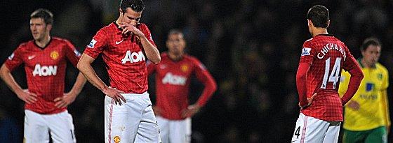 Das ging daneben: Manchester United hat die Tabellenführung in Norwich verloren.