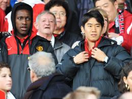 Weiter zum Zuschauen verurteilt: Manchester Uniteds Shinji Kagawa. Links Teamkollege Danny Welbeck.