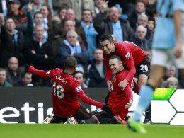 Wayne Rooney lässt sich feiern