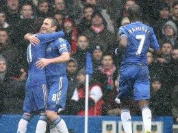Lampard jubelt über sein Elfmetertor zum 2:0 gegen Arsenal.
