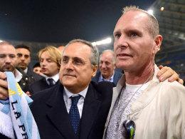Claudio Lotito und Paul Gascoigne