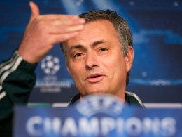 Real-Trainer José Mourinho auf der Pressekonferenz am Dienstag