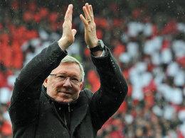Trainerlegende Sir Alex Ferguson verabschiedet sich vom Old Trafford